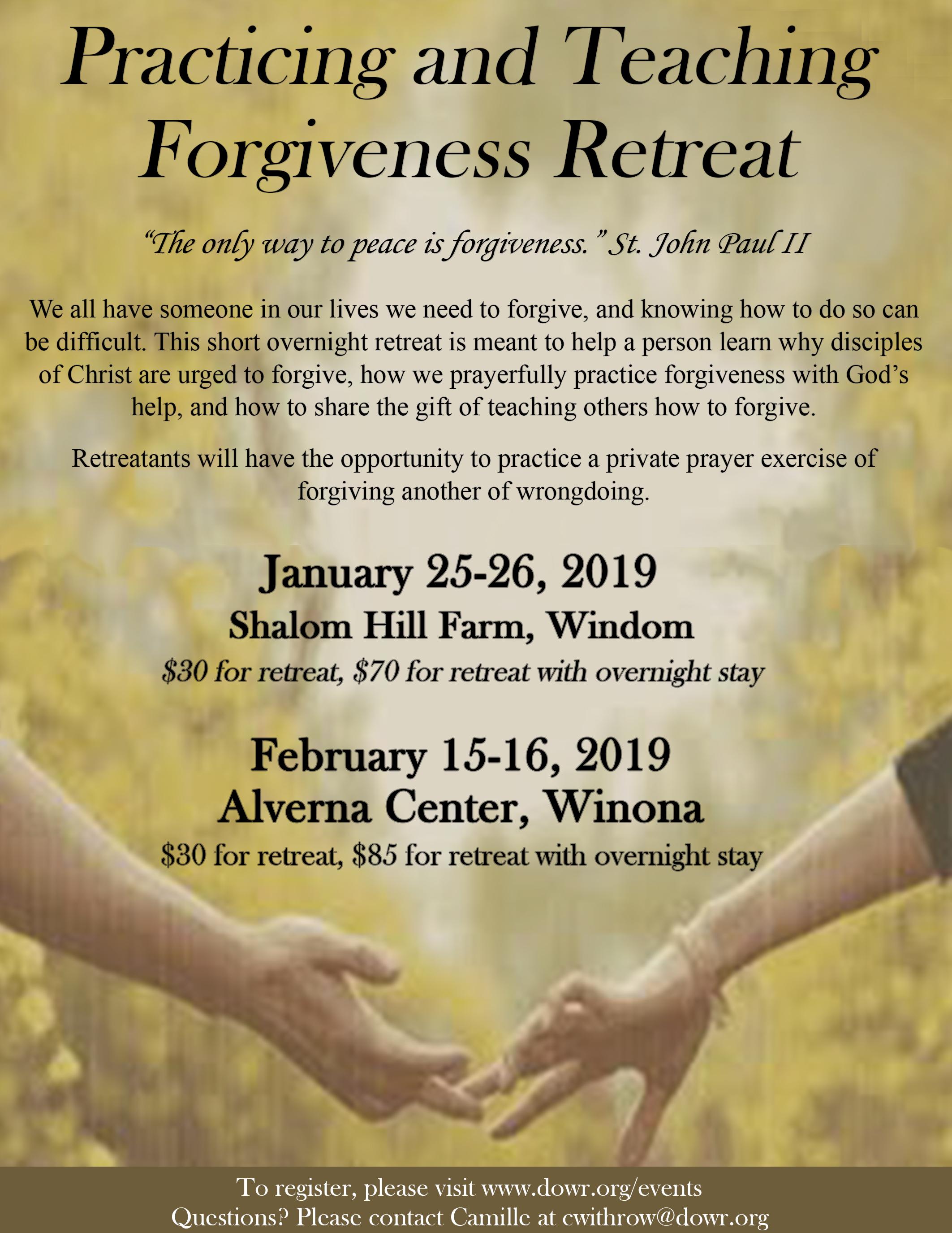 Forgiveness Retreat